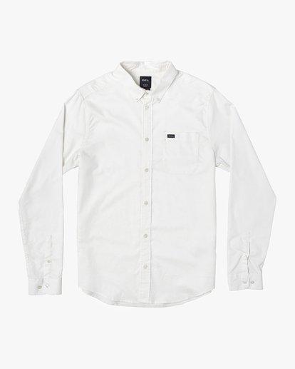 0 That'll Do Stretch Long Sleeve Shirt White M551VRTD RVCA