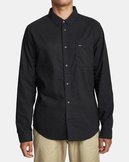 1 That'll Do Stretch Long Sleeve Shirt Black M551VRTD RVCA