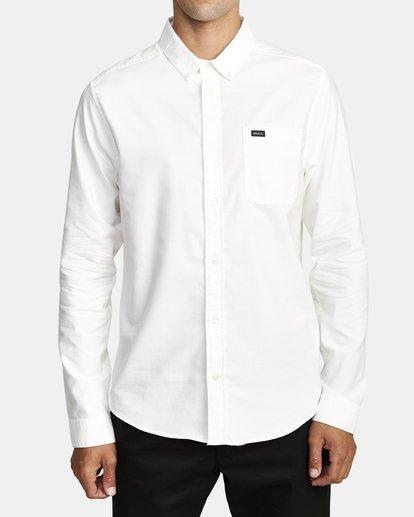 1 That'll Do Stretch Long Sleeve Shirt White M551VRTD RVCA