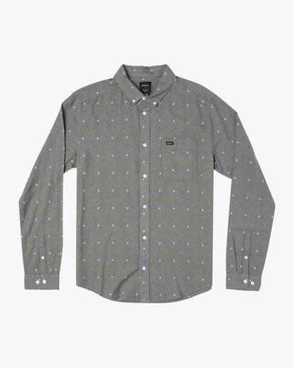 0 That'll Do Dobby Long Sleeve Shirt Purple M556WRDE RVCA
