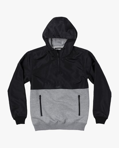 0 Camden Fleece Anorak Jacket Grey M689WRCM RVCA