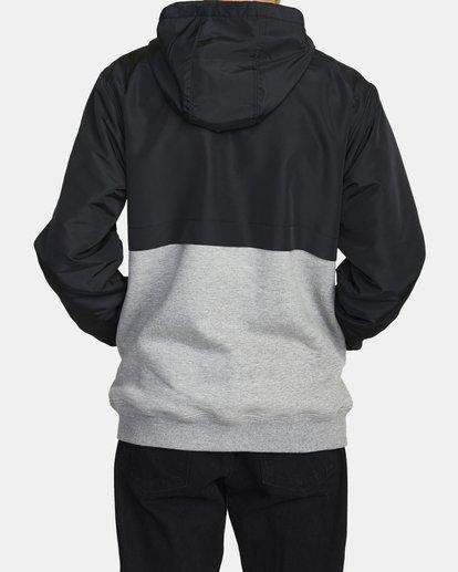 2 Camden Fleece Anorak Jacket Grey M689WRCM RVCA