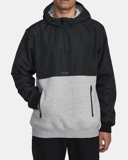 1 Camden Fleece Anorak Jacket Grey M689WRCM RVCA