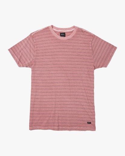 0 Saturation Stripe Knit T-Shirt  M901VRSS RVCA