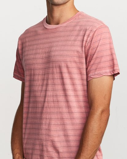 3 Saturation Stripe Knit T-Shirt  M901VRSS RVCA