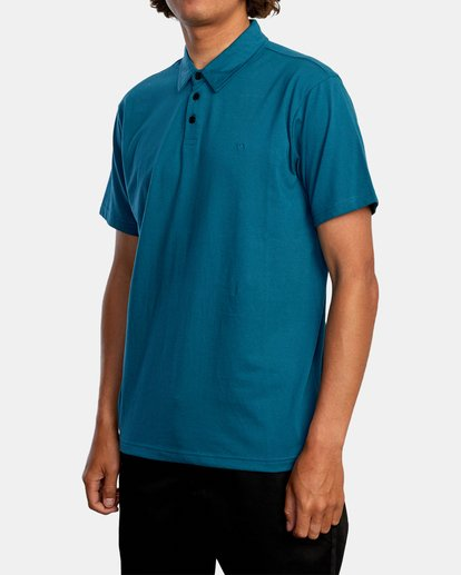 4 SURE THING III POLO SHIRT Green M9101RST RVCA