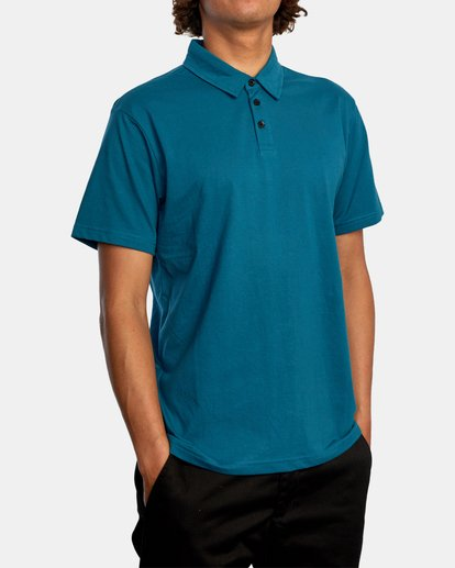 5 SURE THING III POLO SHIRT Green M9101RST RVCA