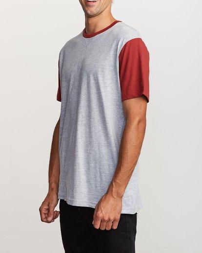 3 Pick Up Knit Shirt Red M913QRPU RVCA