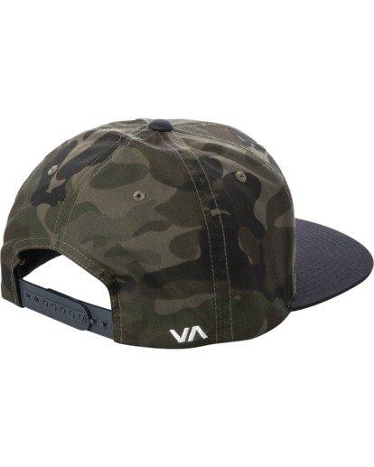 2 RVCA Twill II Snapback Hat Green MAAHWRSB RVCA