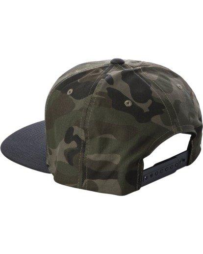 3 RVCA Twill II Snapback Hat Green MAAHWRSB RVCA