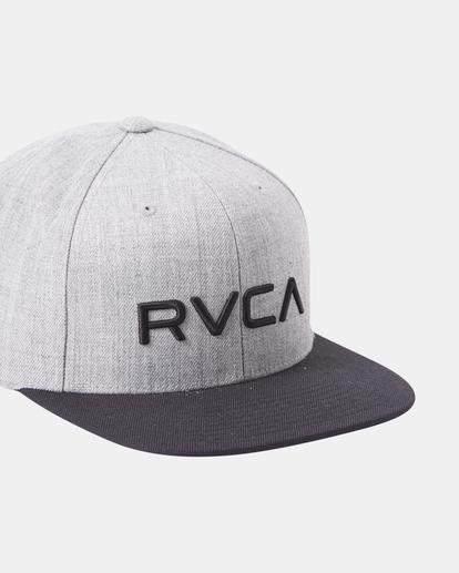 7 RVCA Twill II Snapback Hat Green MAAHWRSB RVCA