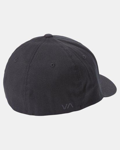 1 RVCA Flex Fit Baseball Hat Black MHAHWRFF RVCA