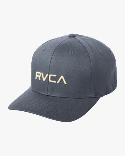 0 RVCA FlexFit Hat Blue MHAHWRFF RVCA