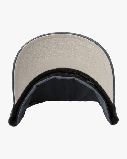 3 RVCA FlexFit Hat Blue MHAHWRFF RVCA