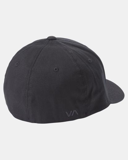 3 RVCA Flex Fit Baseball Hat Black MHAHWRFF RVCA
