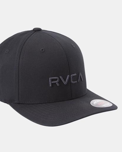4 RVCA Flex Fit Baseball Hat Black MHAHWRFF RVCA