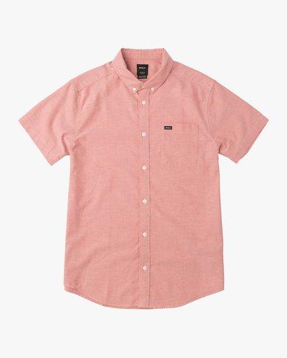 0 That'll Do Stretch Short Sleeve Shirt Red MK515TDS RVCA