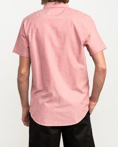 2 That'll Do Stretch Short Sleeve Shirt Red MK515TDS RVCA