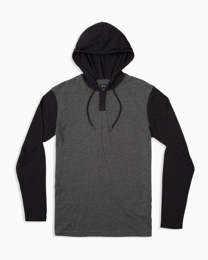 0 Pick Up Hooded Knit Shirt Grey ML916PIH RVCA