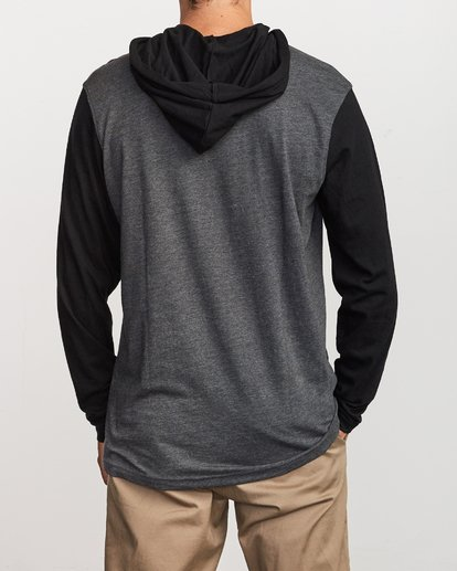 2 Pick Up Hooded Knit Shirt Grey ML916PIH RVCA