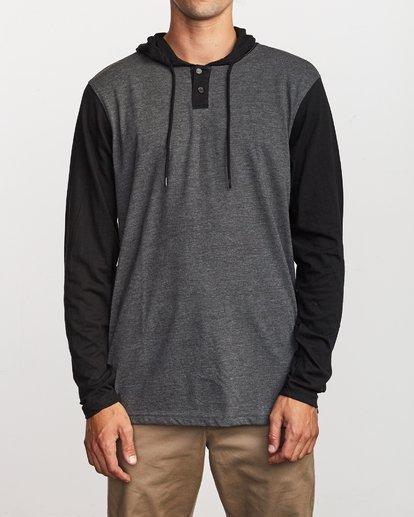 1 Pick Up Hooded Knit Shirt Grey ML916PIH RVCA