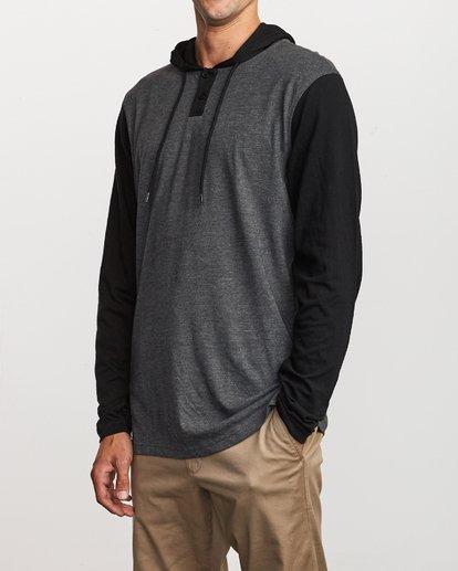 3 Pick Up Hooded Knit Shirt Grey ML916PIH RVCA