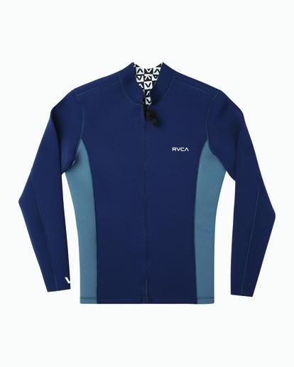0 Ancell Front Zip Neoprene Wetsuit Jacket Blue MR01URFZ RVCA