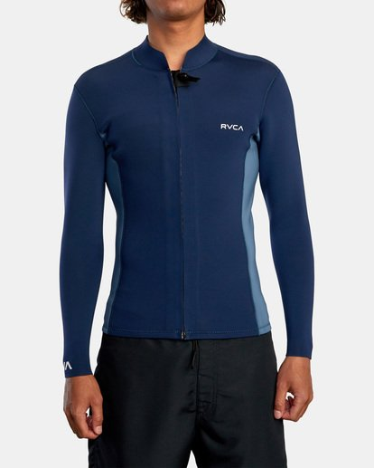 1 Ancell Front Zip Neoprene Wetsuit Jacket Blue MR01URFZ RVCA