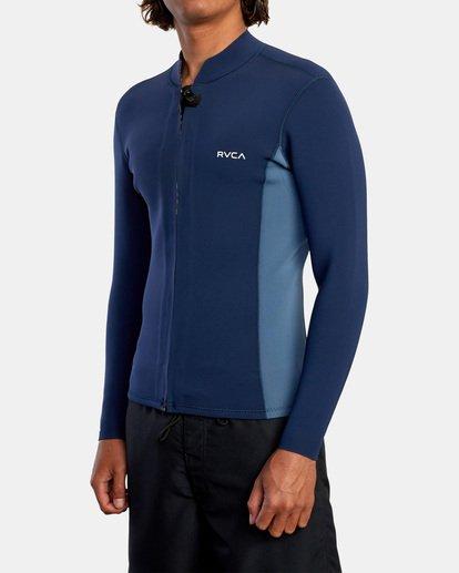4 Ancell Front Zip Neoprene Wetsuit Jacket Blue MR01URFZ RVCA