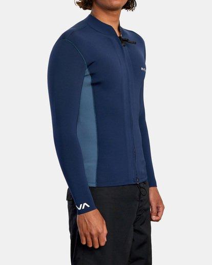 5 Ancell Front Zip Neoprene Wetsuit Jacket Blue MR01URFZ RVCA