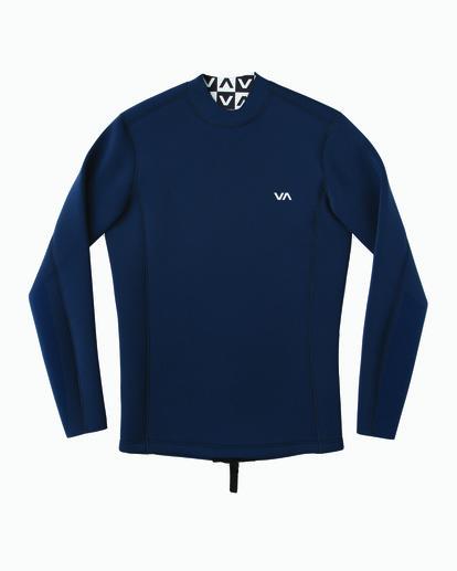 0 Ancell Back Zip Neoprene Wetsuit Jacket Blue MR03URBZ RVCA