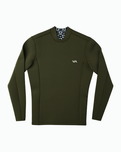 0 Ancell Back Zip Neoprene Wetsuit Jacket Green MR03URBZ RVCA