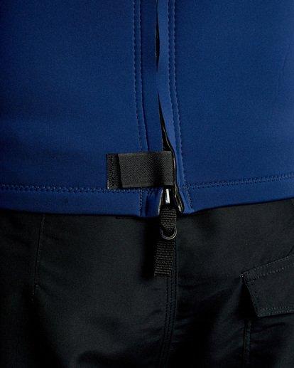 7 Ancell Back Zip Neoprene Wetsuit Jacket Blue MR03URBZ RVCA