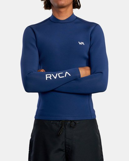 1 Ancell Back Zip Neoprene Wetsuit Jacket Blue MR03URBZ RVCA