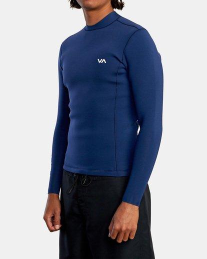 4 Ancell Back Zip Neoprene Wetsuit Jacket Blue MR03URBZ RVCA