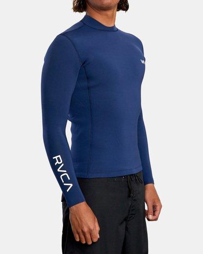 5 Ancell Back Zip Neoprene Wetsuit Jacket Blue MR03URBZ RVCA