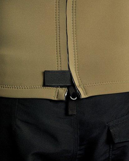 7 Ancell Back Zip Neoprene Wetsuit Jacket Green MR03URBZ RVCA