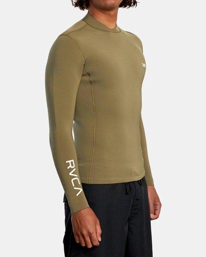 5 Ancell Back Zip Neoprene Wetsuit Jacket Green MR03URBZ RVCA