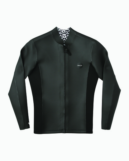 0 Ancell Front Zip Smoothie Wetsuit Jacket Black MR53NRFZ RVCA