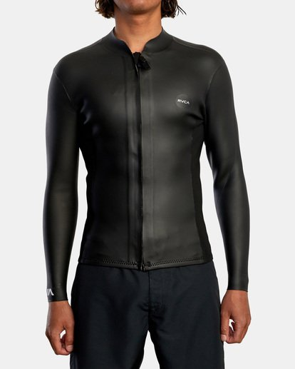 1 Ancell Front Zip Smoothie Wetsuit Jacket Black MR53NRFZ RVCA