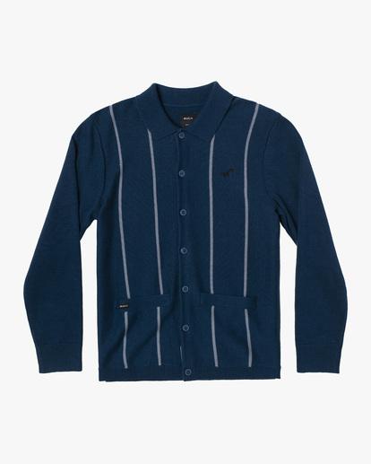 0 Kevin Spanky Long   Okapi Cardigan Sweater Blue MV10WRSS RVCA