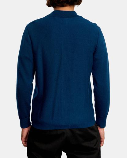 2 Kevin Spanky Long   Okapi Cardigan Sweater Blue MV10WRSS RVCA