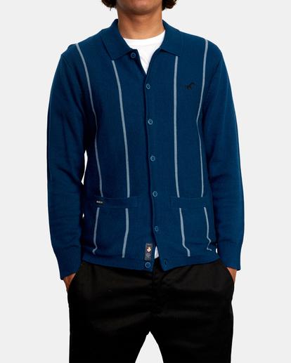 1 Kevin Spanky Long   Okapi Cardigan Sweater Blue MV10WRSS RVCA