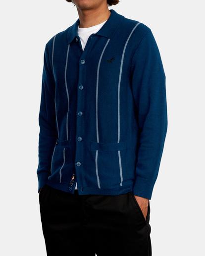 4 Kevin Spanky Long   Okapi Cardigan Sweater Blue MV10WRSS RVCA