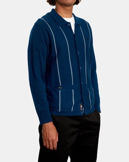 5 Kevin Spanky Long   Okapi Cardigan Sweater Blue MV10WRSS RVCA