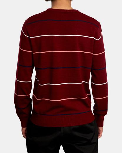 2 ALEX STRIPE CREW sweater Purple MV313RAL RVCA