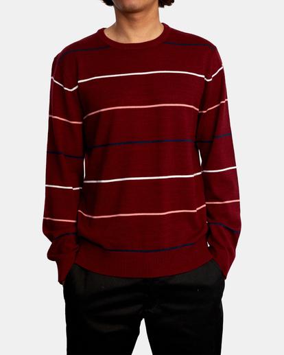 1 ALEX STRIPE CREW sweater Purple MV313RAL RVCA