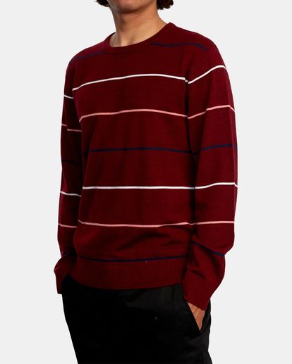 4 ALEX STRIPE CREW sweater Purple MV313RAL RVCA