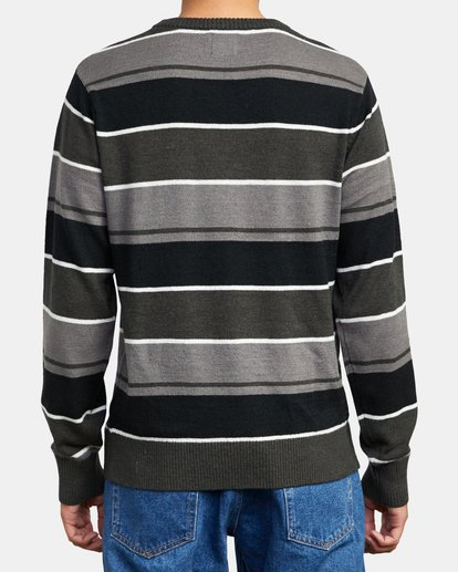 2 ALEX STRIPE CREW sweater Orange MV313RAL RVCA