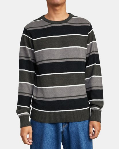 1 ALEX STRIPE CREW sweater Orange MV313RAL RVCA